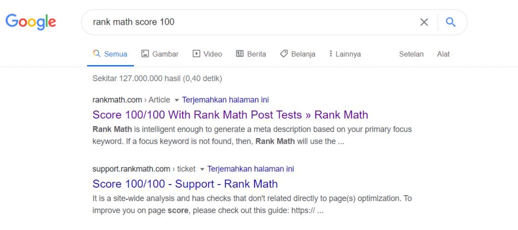 Cara Membuat Skor Rank Math Menjadi 100